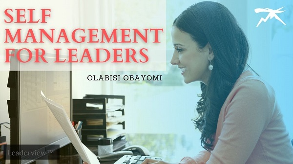 Self Management for Leaders