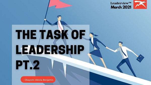 The Task of Leadership Part 2