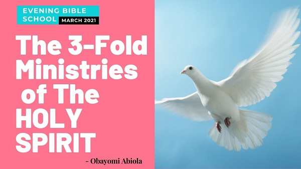 The Three-fold Ministry of The Holy Spirit to the Unsaved World