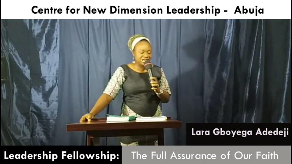 The Full Assurance of Our Faith