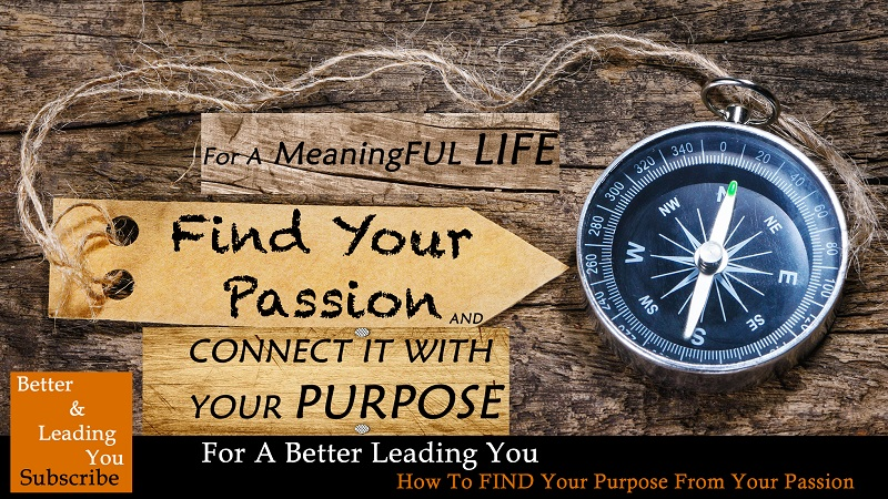 How To Find Your Purpose From Your Passion | For A Better Leading You
