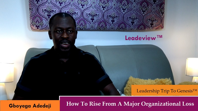 How To Rise From A Major Organizational Loss in Leadership