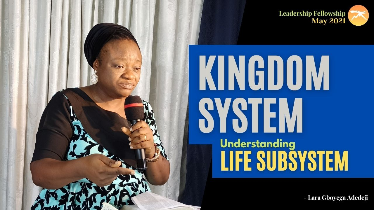 Kingdom SYSTEM: Understanding The Life Sub-System