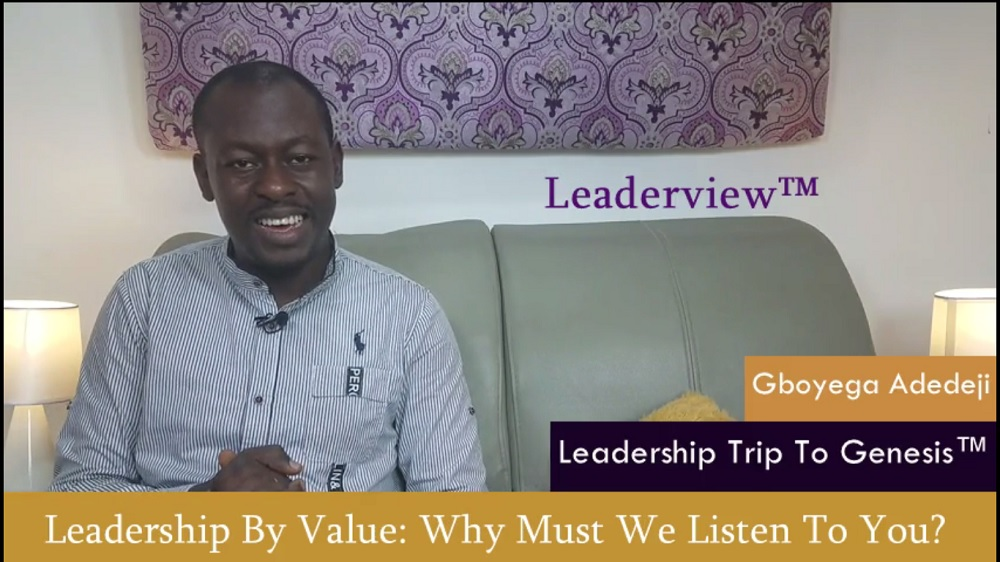 Leadership By Value: Why Must People Follow You?