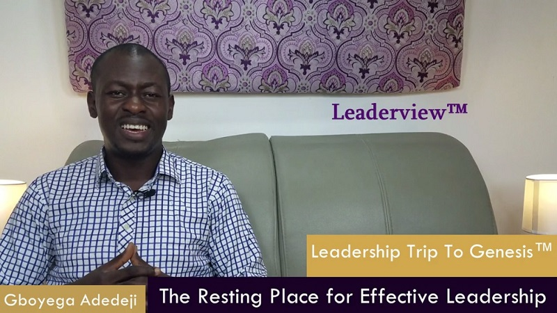 The Resting Place for Effective Leadership
