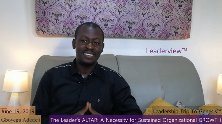The Altar of A Leader: The Necessity for Sustained Organizational Growth