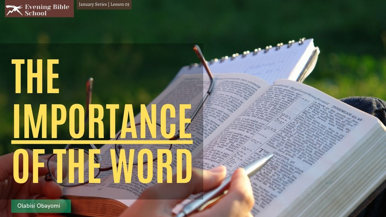 The Importance of The WORD