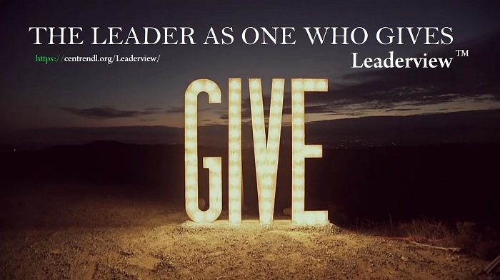 The LEADER As One Who GIVES