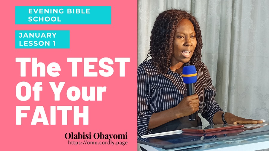 The TEST of Your FAITH