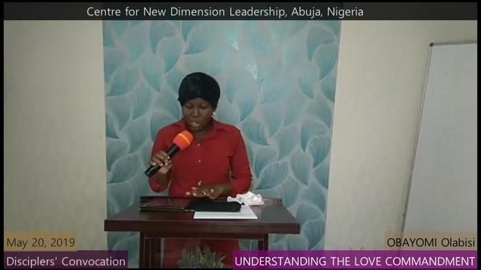 UNDERSTANDING THE COMMANDMENT OF LOVE   Olabisi Obayomi