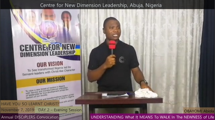 Understanding What It MEANS To WALK In The NEWNESS of Life (DAY 2 Evening Session)
